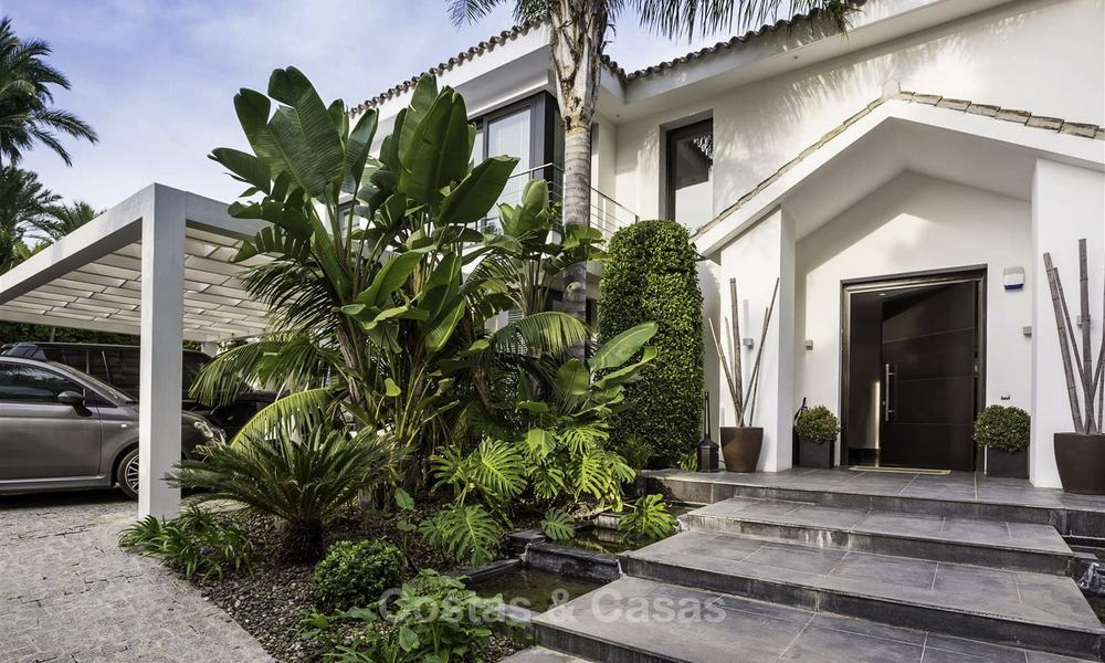 Stunning and unique contemporary luxury villa for sale, in an exclusive beachside urbanisation in East Marbella 17391