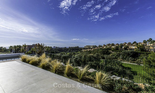 New contemporary designer villa for sale, ready to move into, with sea, golf and mountain views, East Marbella 17506