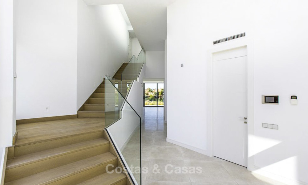New contemporary designer villa for sale, ready to move into, with sea, golf and mountain views, East Marbella 17507