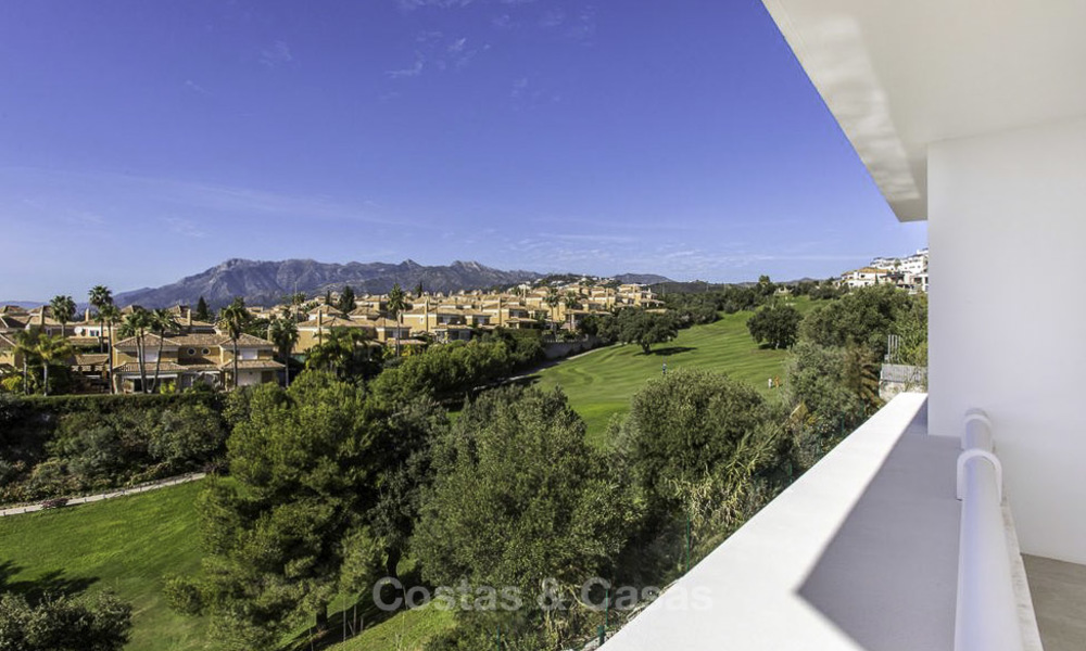 New contemporary designer villa for sale, ready to move into, with sea, golf and mountain views, East Marbella 17520