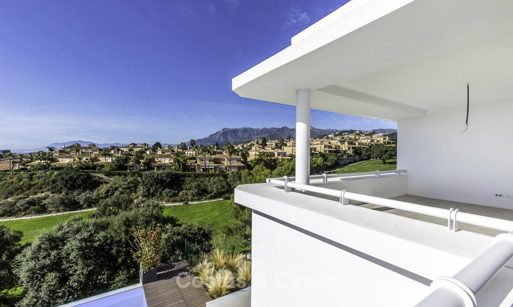 New contemporary designer villa for sale, ready to move into, with sea, golf and mountain views, East Marbella 17521