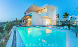 New contemporary designer villa for sale, ready to move into, with sea, golf and mountain views, East Marbella 26755