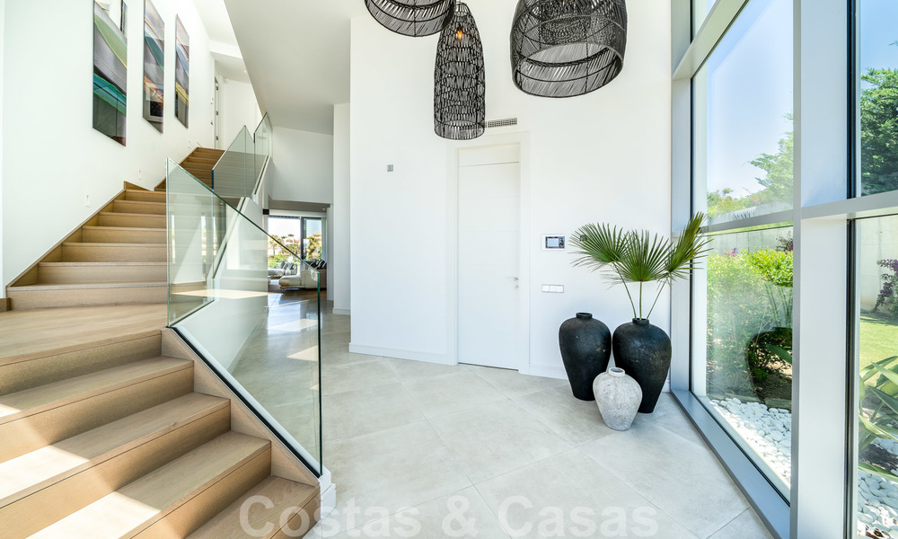 New contemporary designer villa for sale, ready to move into, with sea, golf and mountain views, East Marbella 26756