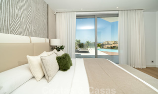New contemporary designer villa for sale, ready to move into, with sea, golf and mountain views, East Marbella 26757