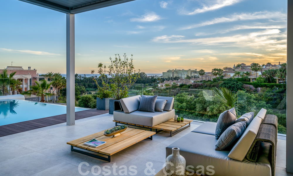 New contemporary designer villa for sale, ready to move into, with sea, golf and mountain views, East Marbella 26774