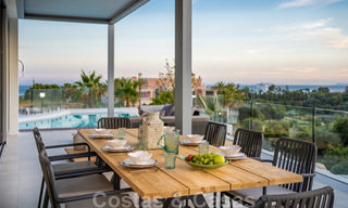 New contemporary designer villa for sale, ready to move into, with sea, golf and mountain views, East Marbella 26776