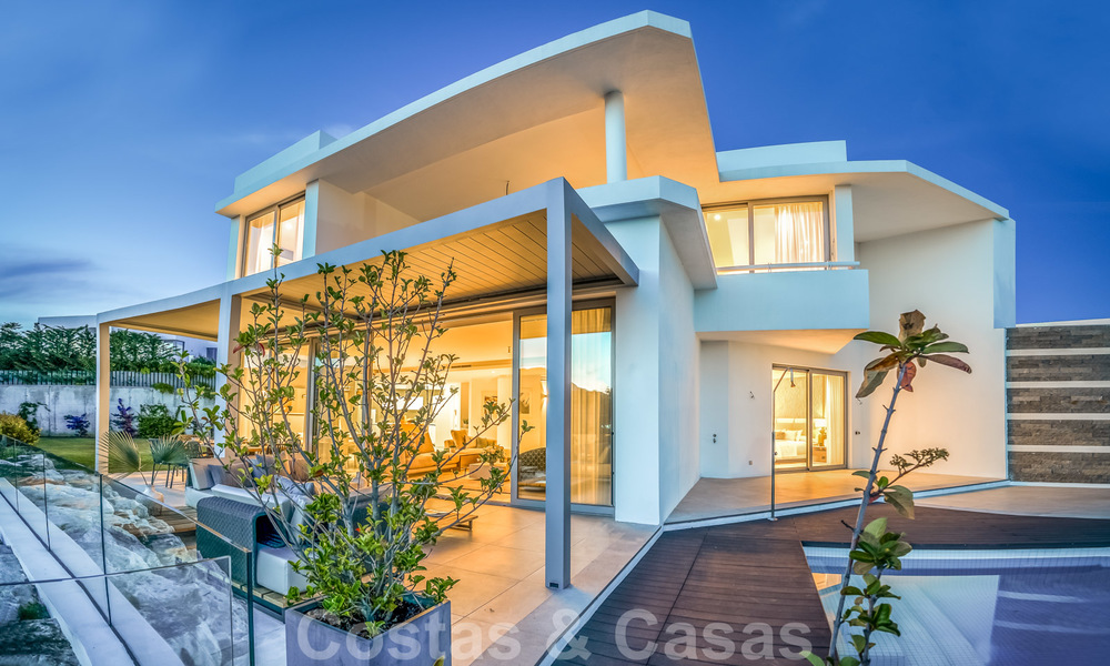 New contemporary designer villa for sale, ready to move into, with sea, golf and mountain views, East Marbella 26779