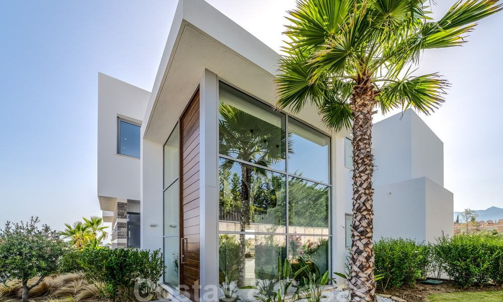 New contemporary designer villa for sale, ready to move into, with sea, golf and mountain views, East Marbella 26788