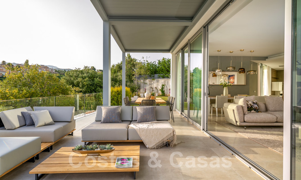 New contemporary designer villa for sale, ready to move into, with sea, golf and mountain views, East Marbella 26792