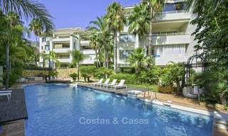 Luxury garden apartment with private pool and garden for sale in a posh complex on the Golden Mile of Marbella 17700