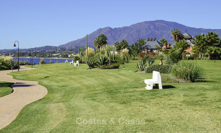 Impressive garden apartment for sale, in a sought after beachside urbanisation between Marbella and Estepona 17864