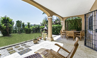 Impressive garden apartment for sale, in a sought after beachside urbanisation between Marbella and Estepona 17873