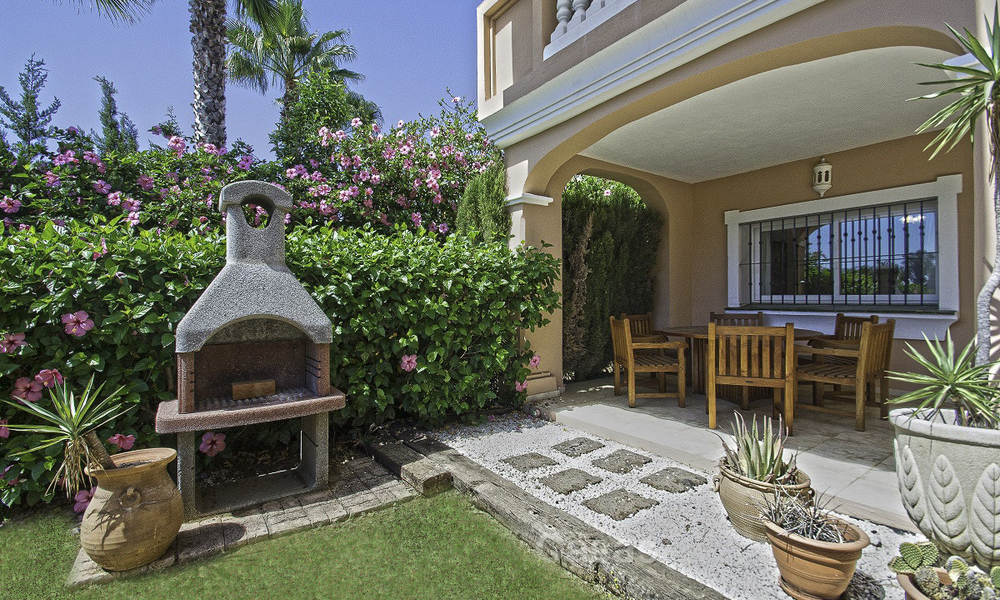 Impressive garden apartment for sale, in a sought after beachside urbanisation between Marbella and Estepona 17876
