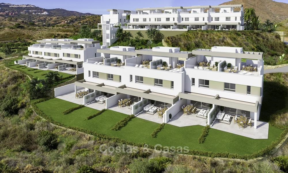 Spacious new built contemporary townhouses for sale, in a championship golf resort in Mijas 17768