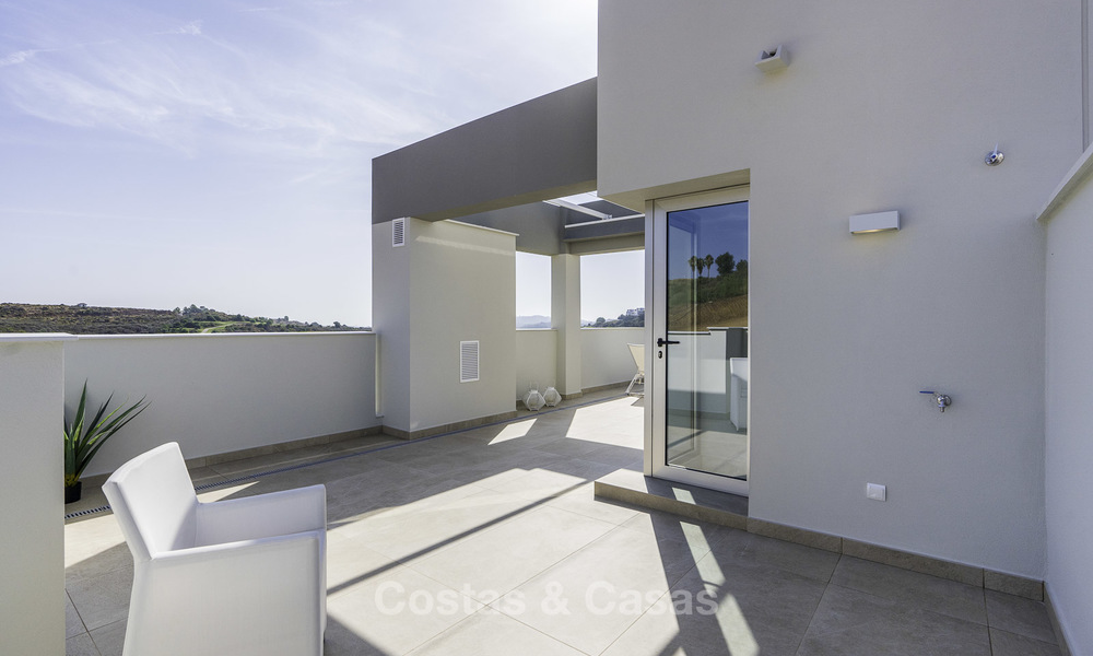 Spacious new built contemporary townhouses for sale, in a championship golf resort in Mijas 17788