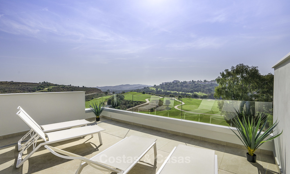 Spacious new built contemporary townhouses for sale, in a championship golf resort in Mijas 17790