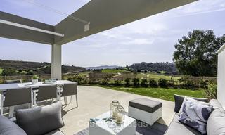 Spacious new built contemporary townhouses for sale, in a championship golf resort in Mijas 17801
