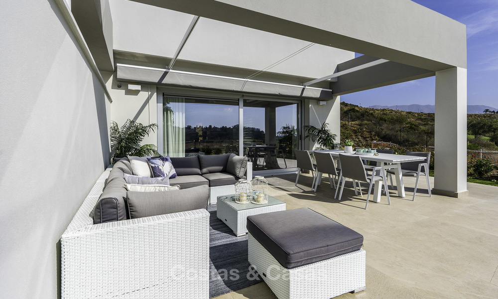 Spacious new built contemporary townhouses for sale, in a championship golf resort in Mijas 17805