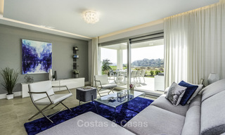 Spacious new built contemporary townhouses for sale, in a championship golf resort in Mijas 17811
