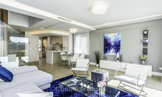 Spacious new built contemporary townhouses for sale, in a championship golf resort in Mijas 17813