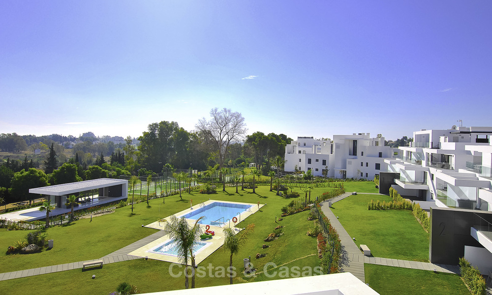 Impressive new built modern penthouse apartment for sale, with sea view, Benahavis - Marbella. Ready to move in. 17937