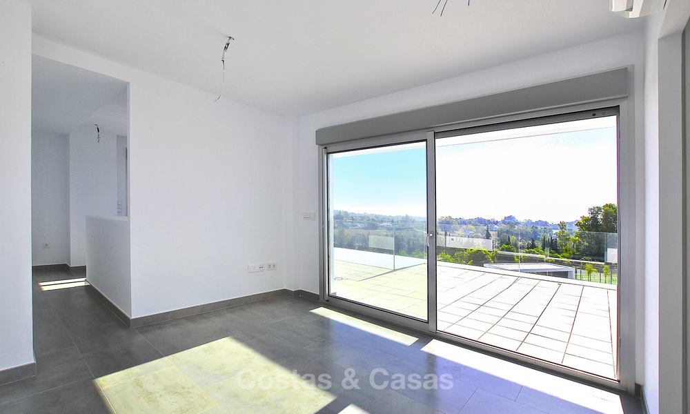Impressive new built modern penthouse apartment for sale, with sea view, Benahavis - Marbella. Ready to move in. 17939