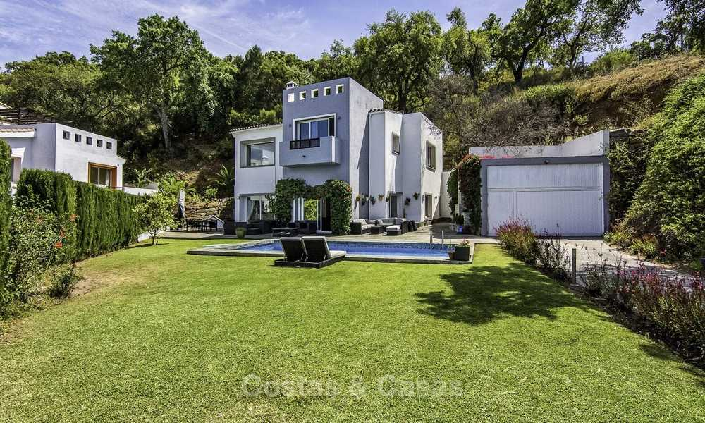 Modern detached luxury villa on a large plot in a peaceful country estate for sale, Marbella East 18127