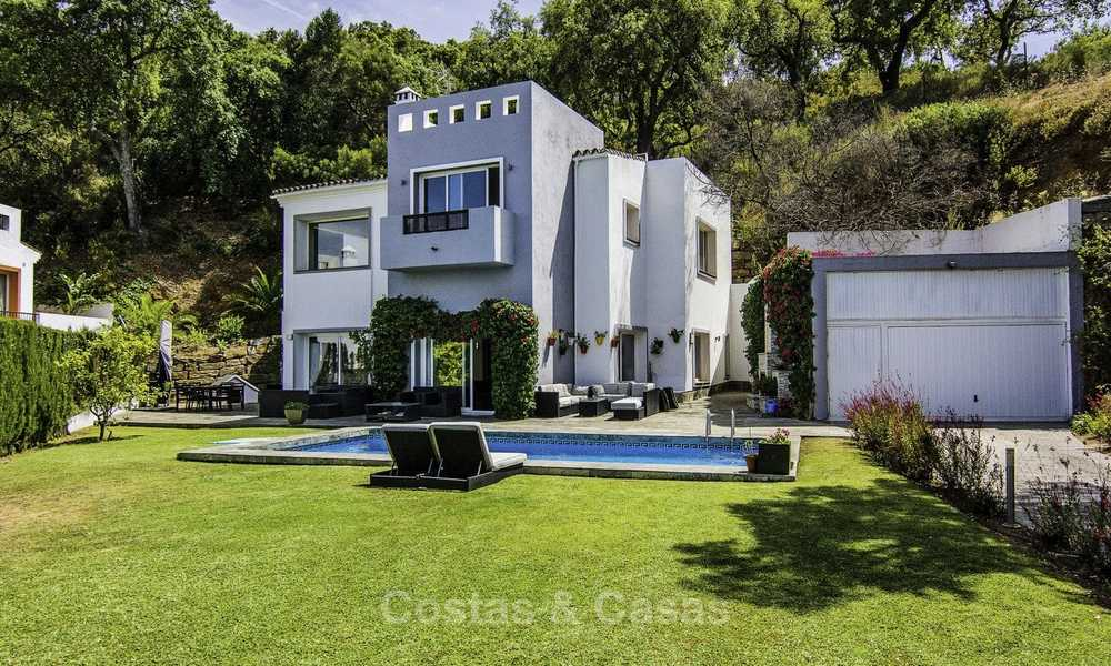 Modern detached luxury villa on a large plot in a peaceful country estate for sale, Marbella East 18128