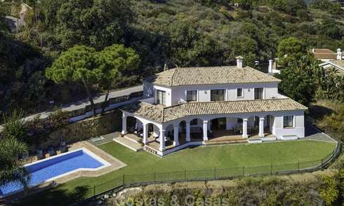 Charming Andalusian style villa in spectacular natural surroundings for sale in Benahavis - Marbella 17991