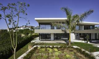 Magnificent uber-luxurious contemporary villa for sale, with amazing sea views and a frontline golf position in Benahavis - Marbella 18052