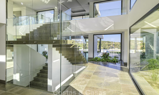 Magnificent uber-luxurious contemporary villa for sale, with amazing sea views and a frontline golf position in Benahavis - Marbella 18066