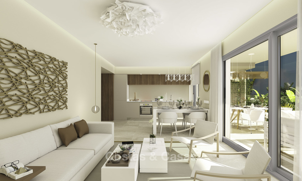 New modern apartments in a superb golf resort for sale, amazing views included! Mijas, Costa del Sol 18095