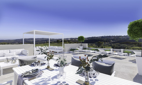 New modern apartments in a superb golf resort for sale, amazing views included! Mijas, Costa del Sol 18102