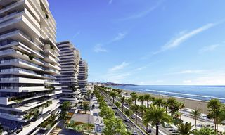 Innovative contemporary luxury apartments for sale in an impressive new beachfront complex in Malaga city 18377