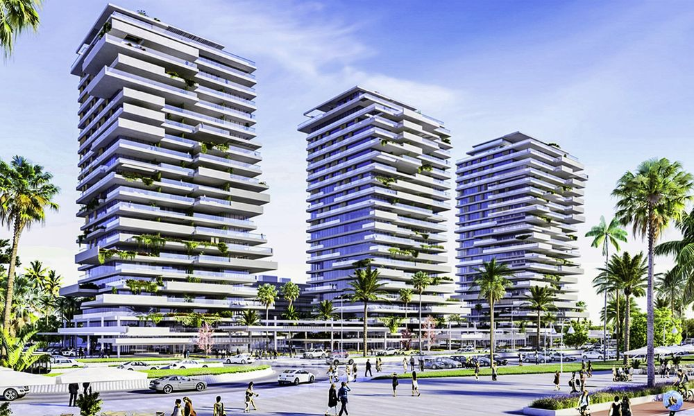 Innovative contemporary luxury apartments for sale in an impressive new beachfront complex in Malaga city 18388