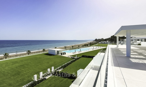 Very exclusive new contemporary beachfront apartments for sale, move in ready, on the New Golden Mile, Marbella - Estepona 18772