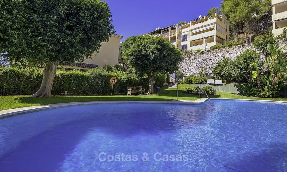 Stylish and bright, recently refurbished penthouse apartment for sale, frontline golf, Benahavis - Marbella 18694