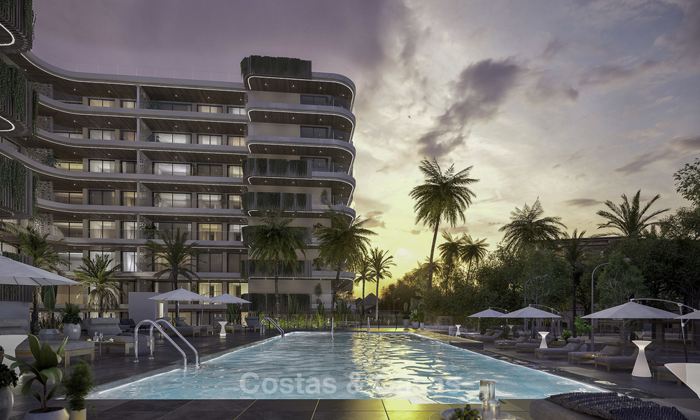Impressive new luxury apartments in an exclusive complex for sale, walking distance to the beach, in the centre of Fuengirola, Costa del Sol 18713