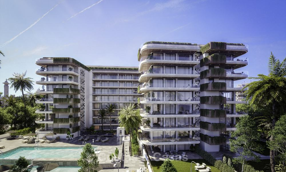 Impressive new luxury apartments in an exclusive complex for sale, walking distance to the beach, in the centre of Fuengirola, Costa del Sol 18729