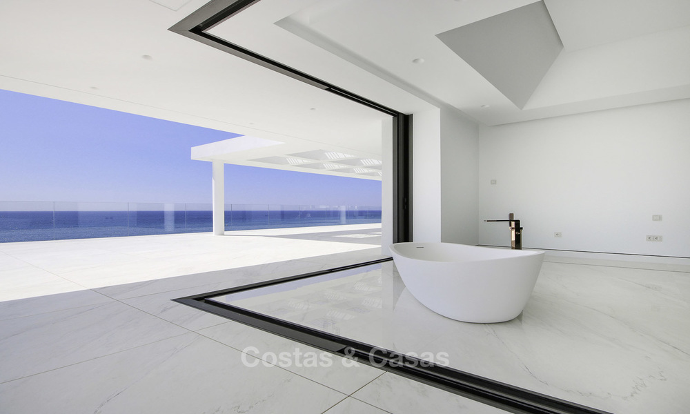 Exclusive new modern design beachfront penthouse for sale, move in ready, on the New Golden Mile, Marbella - Estepona 18857