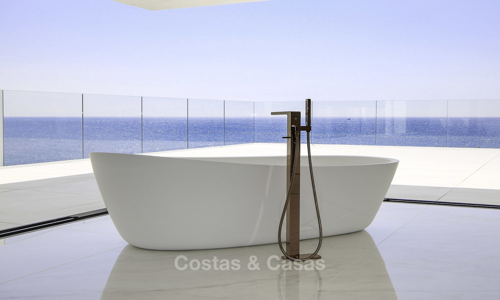 Exclusive new modern design beachfront penthouse for sale, move in ready, on the New Golden Mile, Marbella - Estepona 18858