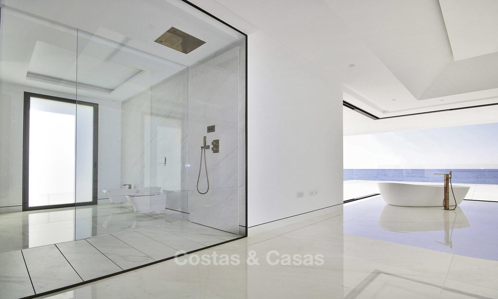 Exclusive new modern design beachfront penthouse for sale, move in ready, on the New Golden Mile, Marbella - Estepona 18866