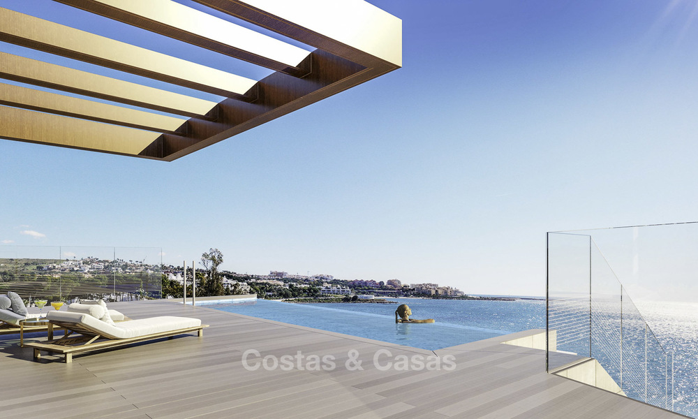 Stunning exclusive beachfront modern luxury apartments in boutique complex for sale near the centre of Estepona 18920