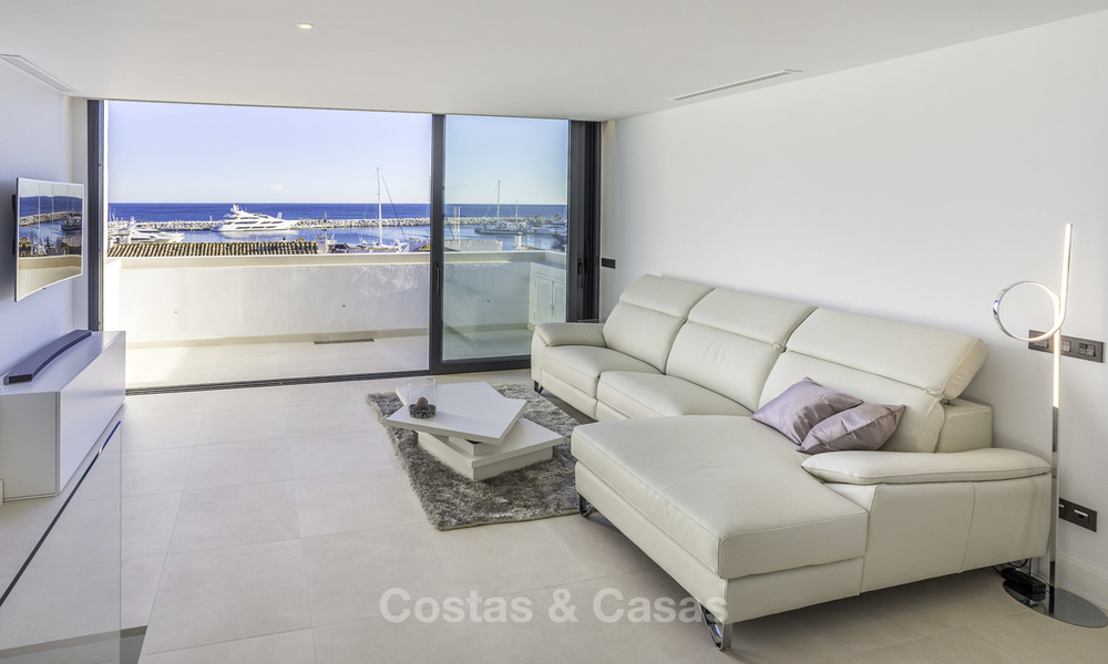 Stunning, fully renovated high end penthouse apartment for sale in the marina of Puerto Banus, Marbella 18984