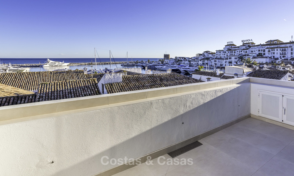 Stunning, fully renovated high end penthouse apartment for sale in the marina of Puerto Banus, Marbella 18992