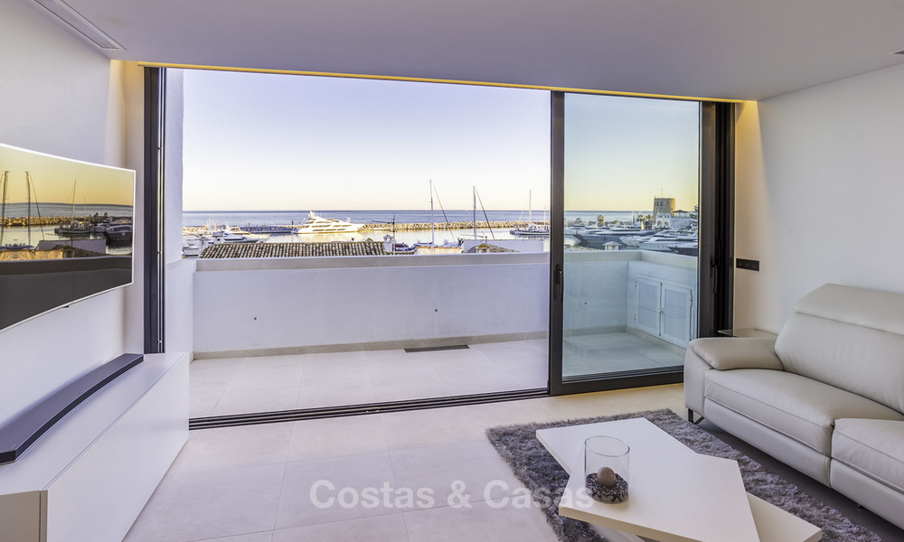 Stunning, fully renovated high end penthouse apartment for sale in the marina of Puerto Banus, Marbella 19007