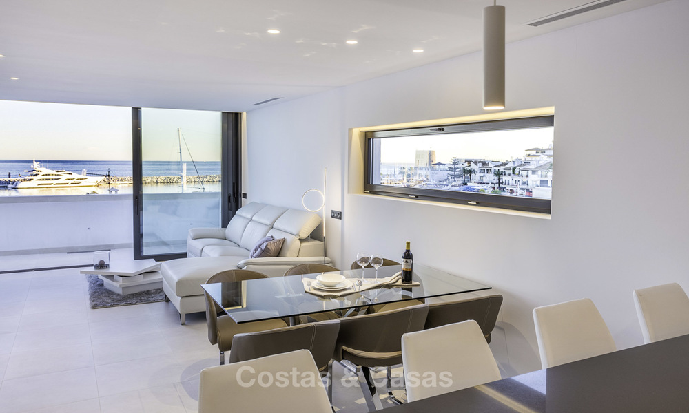 Stunning, fully renovated high end penthouse apartment for sale in the marina of Puerto Banus, Marbella 19008