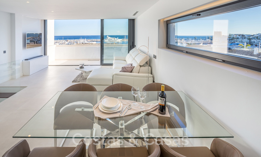 Stunning, fully renovated high end penthouse apartment for sale in the marina of Puerto Banus, Marbella 19249