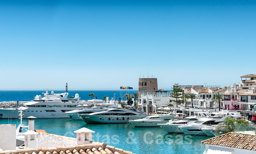 Stunning, fully renovated high end penthouse apartment for sale in the marina of Puerto Banus, Marbella 28522