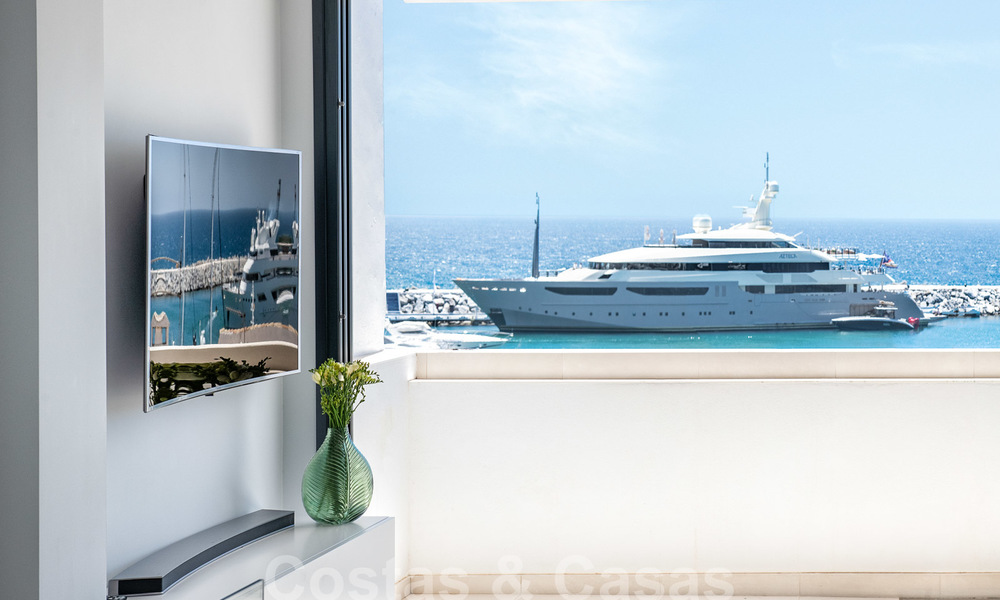 Stunning, fully renovated high end penthouse apartment for sale in the marina of Puerto Banus, Marbella 28524
